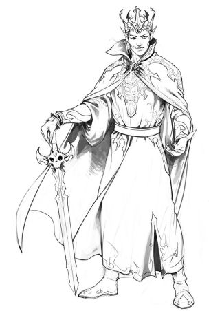 """Gilden, the so-called """"Dark Prince,"""" committed the ultimate sin in the First Shadow War — siding with the Dark One. His descendants were forevermore cursed with a thirst for blood."""