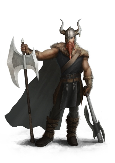 Warriors of Badelgard are known for their large stature and immense strength.